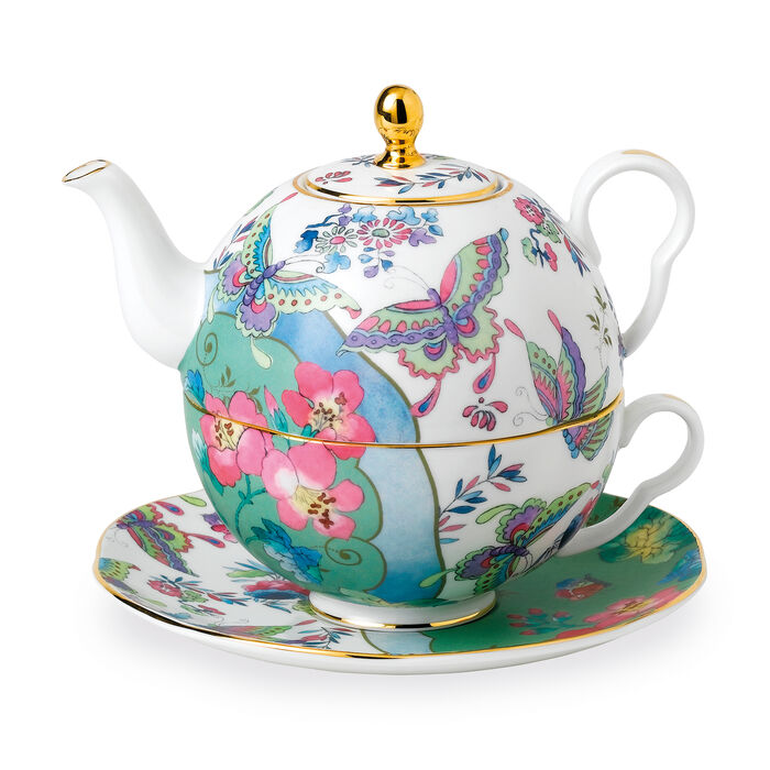 """Wedgwood """"Butterfly Bloom"""" Tea for One Teapot Set, , default"""