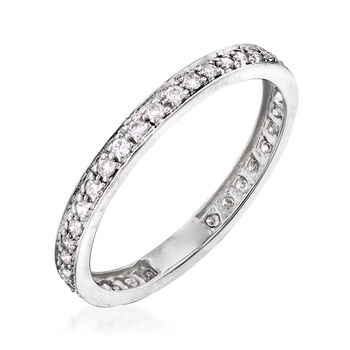 .39 ct. t.w. Diamond Eternity Band in 14kt White Gold. Size 8, , default