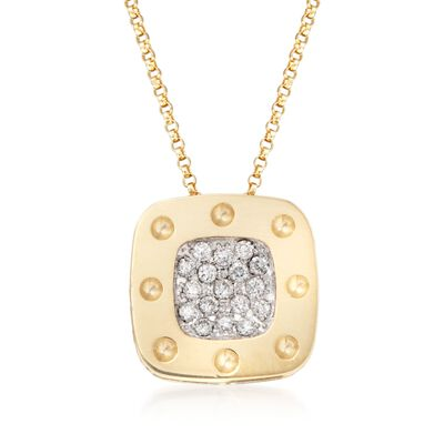 "Roberto Coin ""Pois Moi"" .25 ct. t.w. Diamond Pendant Necklace in 18kt Two-Tone Gold"