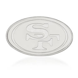 Sterling Silver NFL San Francisco 49ers Lapel Pin, , default