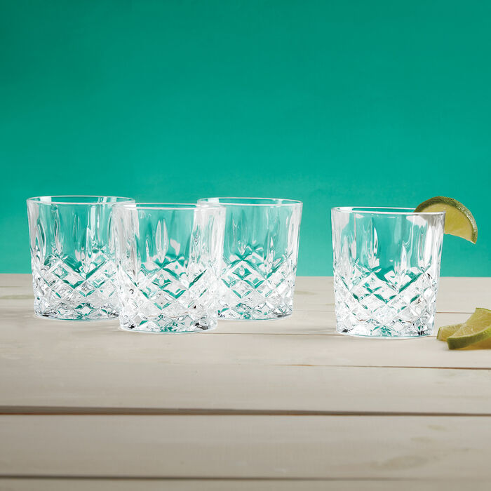 """Marquis by Waterford Crystal """"Markham"""" Set of 4 Double Old Fashioned Glasses from Italy"""