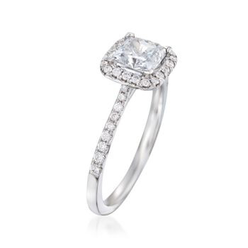 .28 ct. t.w. Diamond Halo Engagement Ring Setting in 14kt White Gold, , default
