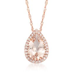 hover zm to rose en mv zoom gold accents morganite kaystore diamond kay necklace