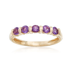 2.60 ct. t.w. Amethyst Five-Stone Ring in 14kt Yellow Gold, , default