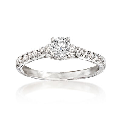 .70 ct. t.w. Diamond Engagement Ring in 14kt White Gold, , default