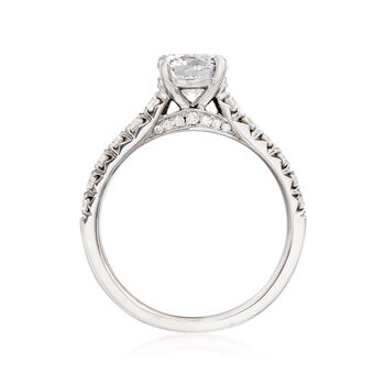 .52 ct. t.w. Diamond Engagement Ring Setting in 14kt White Gold, , default