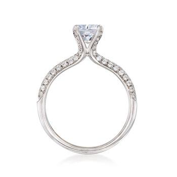 Simon G. .42 ct. t.w. Diamond Engagement Ring Setting in 18kt White Gold, , default