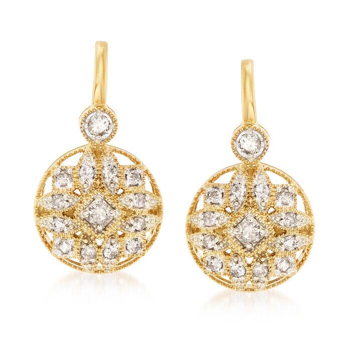 .50 ct. t.w. Diamond Multi-Shape Drop Earrings in 18kt Gold Over Sterling, , default