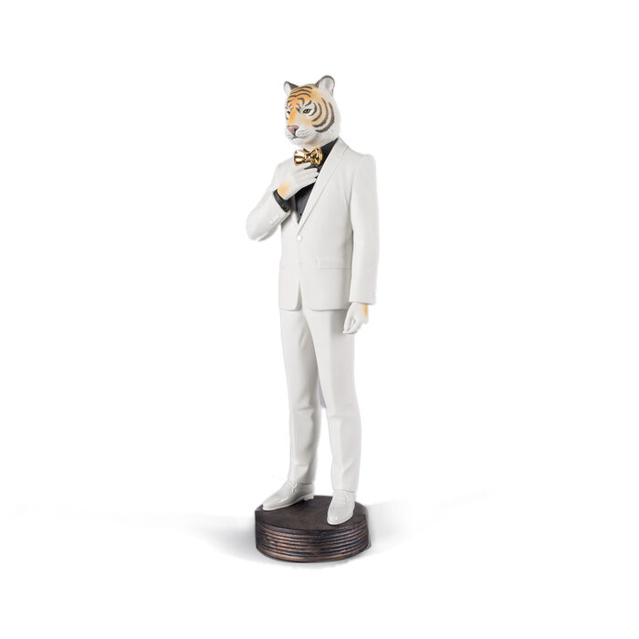 "Lladro ""Tiger Man"" Porcelain Figurine"