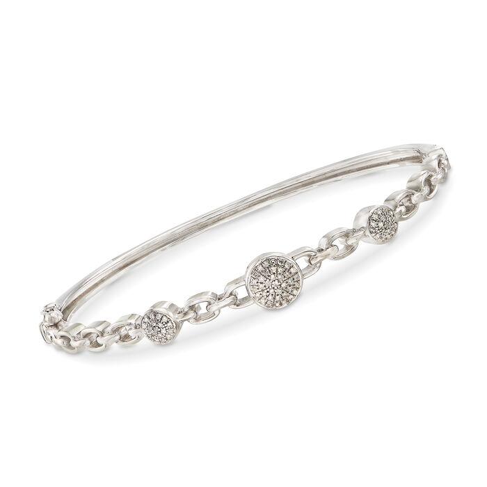 .20 ct. t.w. Diamond Bangle Bracelet in Sterling Silver, , default