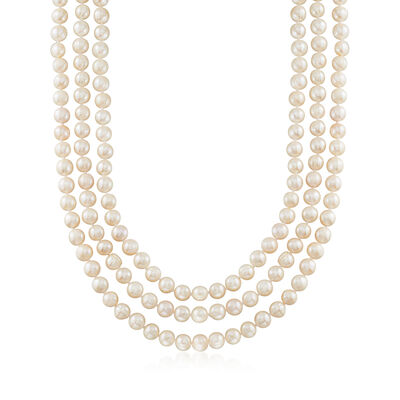 8-9mm Cultured Semi-Baroque Pearl Endless Necklace, , default