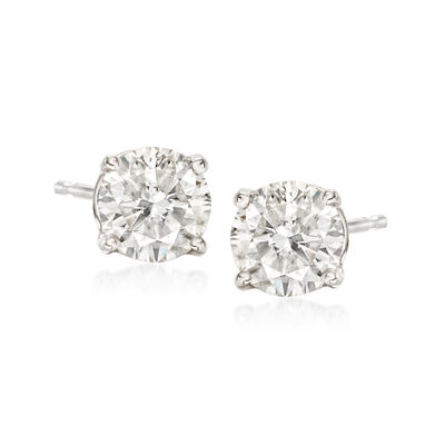1.25 ct. t.w. Diamond Stud Earrings in 14kt White Gold, , default