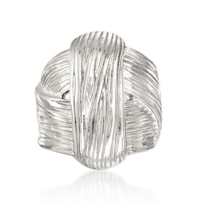 Italian Sterling Silver Knot Ring, , default