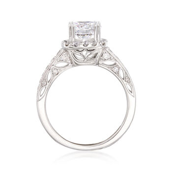 .60 ct. t.w. Diamond Halo Engagement Ring Setting in 14kt White Gold, , default