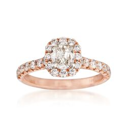 Henri Daussi 1.42 ct. t.w. Diamond Halo Engagement Ring in 18kt Rose Gold, , default