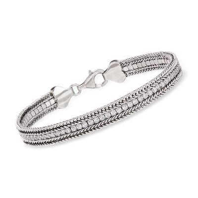 2.00 ct. t.w. CZ Bracelet in Sterling Silver, , default