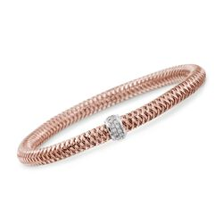 "Roberto Coin ""Primavera"" .20 ct. t.w. Diamond  Bracelet in 18kt Two-Tone Gold. 7"", , default"