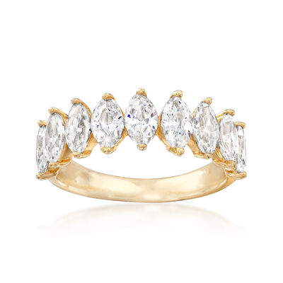2.75 ct. t.w. Marquise CZ Ring in 14kt Yellow Gold, , default