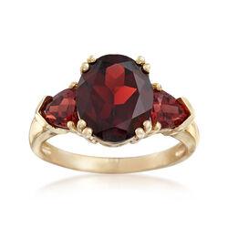 5.20 ct. t.w. Garnet Ring in 14kt Yellow Gold, , default