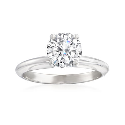1.25 Carat Diamond Solitaire Ring in 14kt White Gold