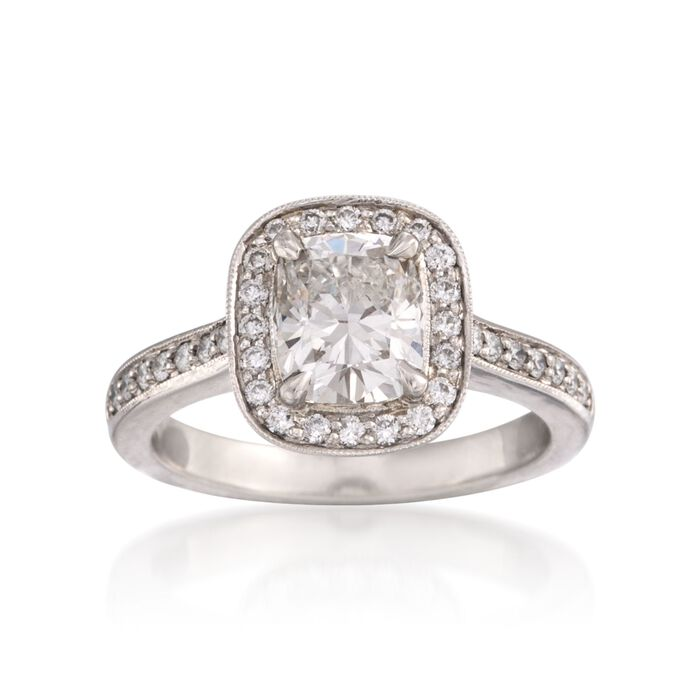 1.85 ct. t.w. Certified Diamond Engagement Ring in Platinum, , default