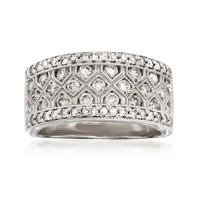 1.01 ct. t.w. Diamond Band in 14kt White Gold, , default