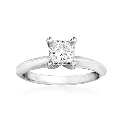 1.01 Carat Certified Diamond Engagement Ring in 14kt White Gold