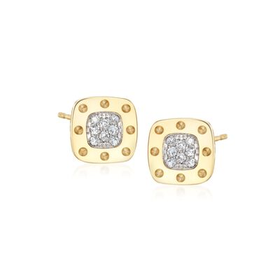 "Roberto Coin ""Pois Moi"" .24 ct. t.w. Diamond Stud Earrings in 18kt Yellow Gold"