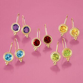 2.00 ct. t.w. Garnet Drop Earrings in 14kt Yellow Gold, , default