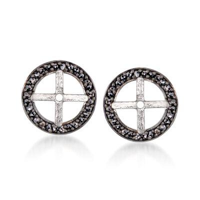 .40 ct. t.w. Black Diamond Earring Jackets in Sterling Silver
