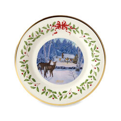 Lenox 2018 Annual Porcelain Christmas Plate - Outdoor Cabin 28th Edition, , default