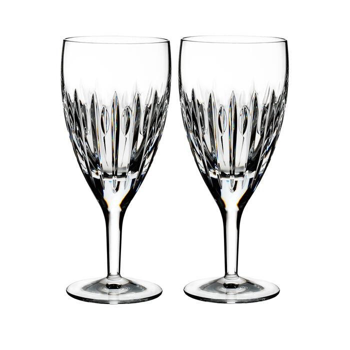 "Waterford Crystal ""Ardan"" Set of Two Mara Iced Beverage Glasses"