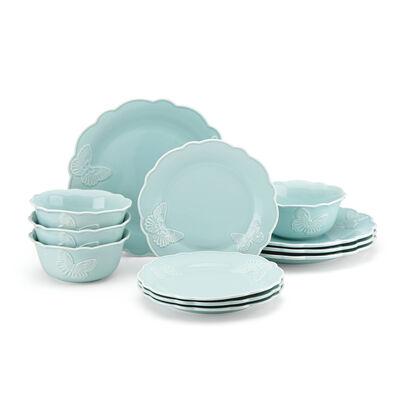 """Lenox """"Butterfly Meadow"""" Blue Stoneware Dinnerware Set, , default"""