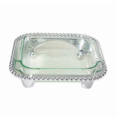 """Mariposa """"String of Pearls"""" Pearled Square Casserole Caddy, , default"""