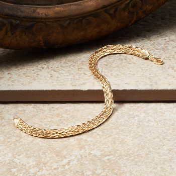 14kt Yellow Gold Braided Wheat Bracelet, , default
