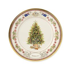 "Lenox 2017 Annual Porcelain ""Trees Around the World"" Plate - 27th Edition, , default"