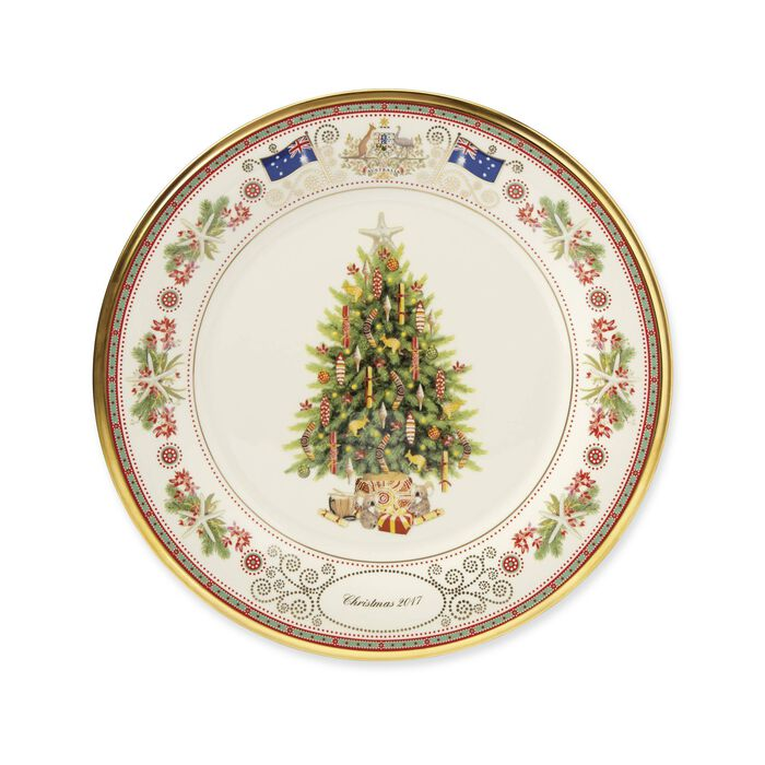 """Lenox 2017 Annual Porcelain """"Trees Around the World"""" Plate - 27th Edition, , default"""