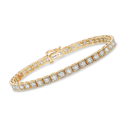 3.00 ct. t.w. Diamond Bracelet in 14kt Yellow Gold, , default