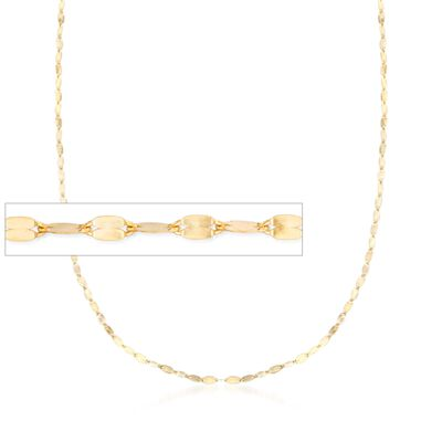 Italian 1.5mm 14kt Yellow Gold Adjustable Slider Lumachina Chain Necklace, , default