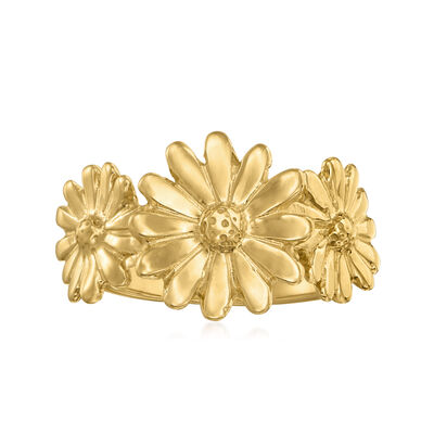 Italian 18kt Gold Over Sterling Daisy Ring