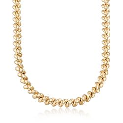 "14kt Yellow Gold San Marco Necklace. 18"", , default"