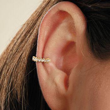 .10 ct. t.w. Baguette Diamond Single Ear Cuff in 14kt Yellow Gold, , default