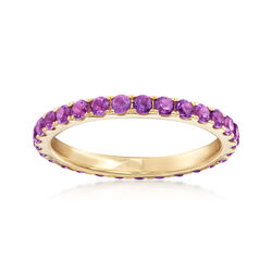 .80 ct. t.w. Amethyst Eternity Band in 14kt Yellow Gold, , default