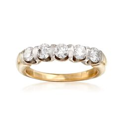 C. 2000 Vintage 1.00 ct. t.w. Diamond Five-Stone Ring in 14kt Yellow Gold. Size 7, , default