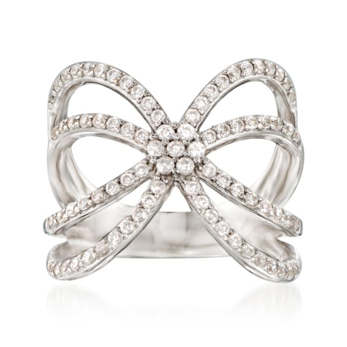 .85 ct. t.w. CZ Open Curve Ring in Sterling Silver, , default
