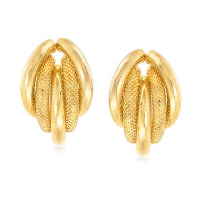 Italian 18kt Yellow Gold Earrings, , default