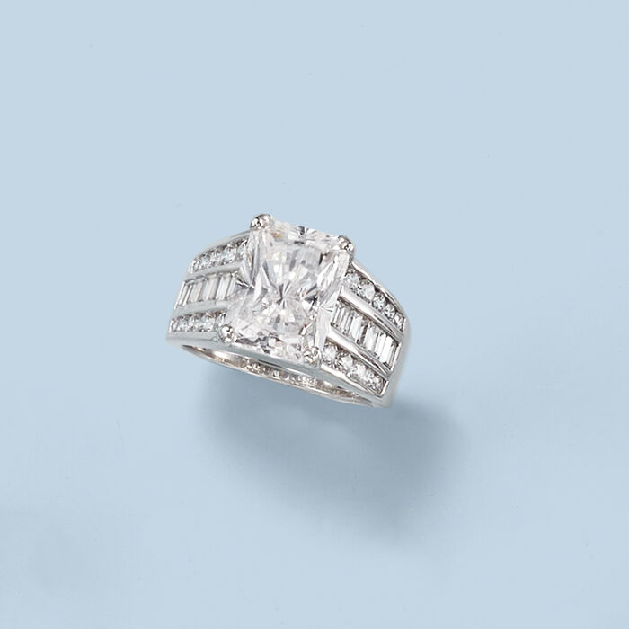 7.10 ct. t.w. CZ Ring in Sterling Silver
