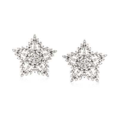 .75 ct. t.w. Diamond Star Stud Earrings in Sterling Silver