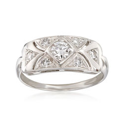 C. 1950 Vintage .58 ct. t.w. Diamond Ring in 14kt White Gold, , default
