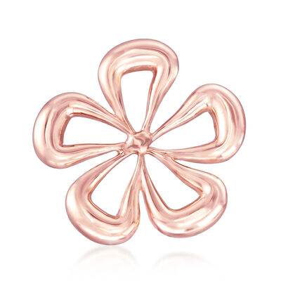 Italian 14kt Rose Gold Flower Pin, , default